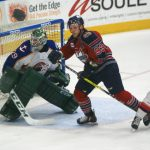 Justin Taylor scored his 30th and 31st goals of the season on Saturday night as the K-Wings defeated the Norfolk Admirals. Photo submitted by Darlene Ferrari